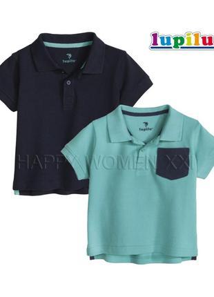 Набор футболок поло для мальчика 1-2 года lupilu тенниска
