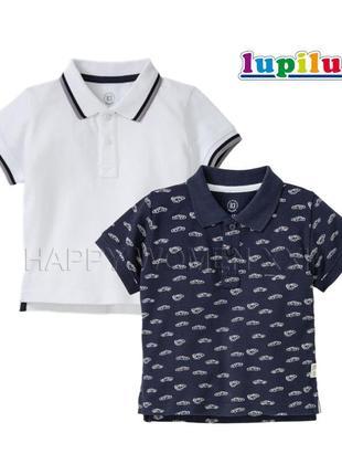 Набор футболок поло для мальчика 2-4 года lupilu тенниска
