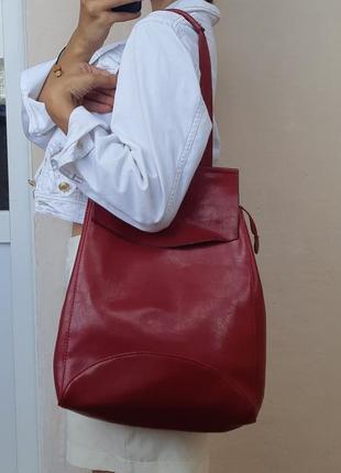 Рюкзак-сумка эко кожа