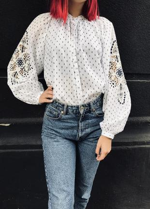 Блузка-вышиванка рубашка н&м