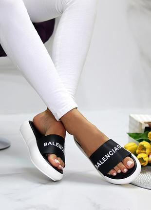 Модные дизайнерские черные женские шлепки шлепанцы лето 2021