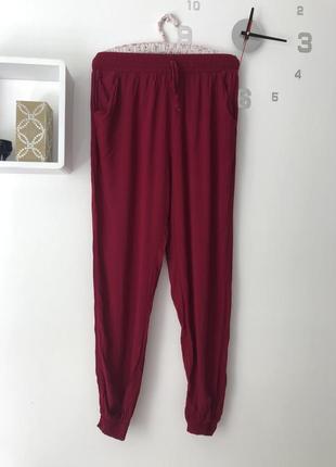 Тонкие брюки султанки лёгкие воздушные на резинке chicoree m
