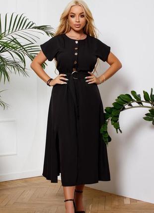Чёрное платье коттон