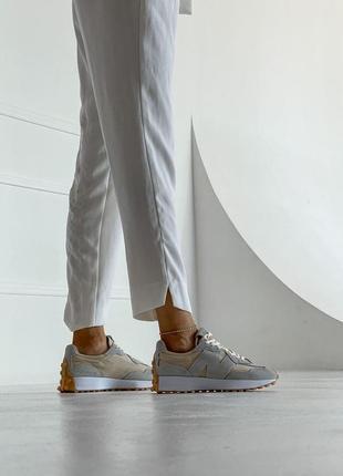 Шикарные женские кроссовки new balance 327 наложка4 фото