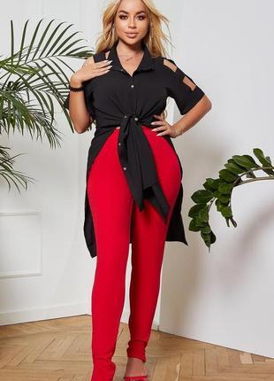 Стильный костюм блуза-туника +лосины