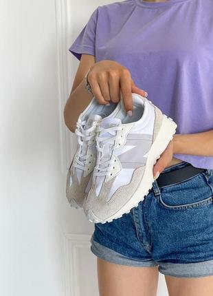 Шикарные женские кроссовки new balance 327 наложка