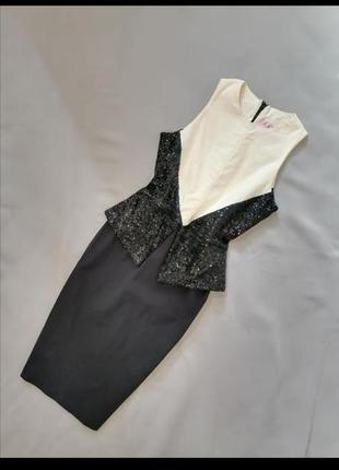Платье винтаж черно белое