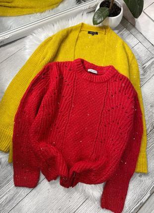 Яркий малиновый свитер