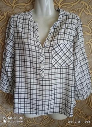 Отличная легкая  вискозная женская рубашка atmosphere / размер  10/38