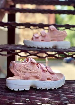Женские сандали fila sandals pink скидка sale   жіночі сандалі знижка