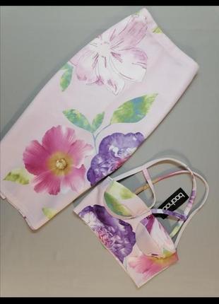 Костюм юбка-карандаш миди и топ