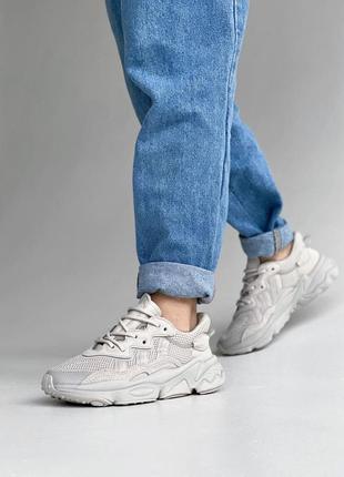 Женские кроссовки adidas ozweego наложка