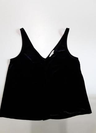 Фирменная велюровая майка маечка блуза