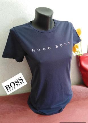 Hugo boss, хлопок, футболка с логотипами