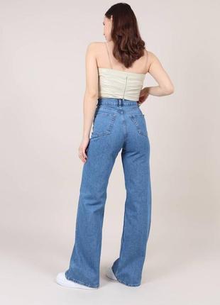 Широкие длинные джинсы трубы / клеш / палаццо6 фото