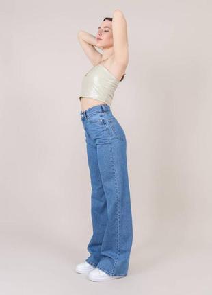Широкие длинные джинсы трубы / клеш / палаццо4 фото