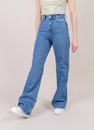Широкие длинные джинсы трубы / клеш / палаццо5 фото