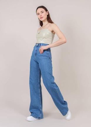 Широкие длинные джинсы трубы / клеш / палаццо2 фото