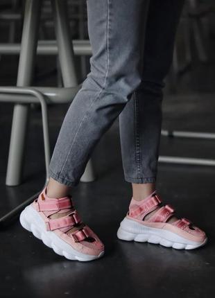 Женские сандали sandal pink скидка sale   жіночі сандалі рожеві знижка