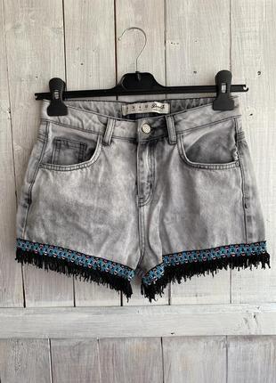 Стильные шорты / джинсовые denimco / турция