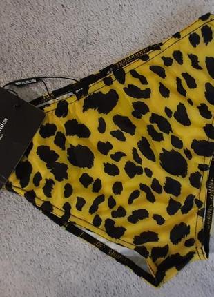 Prettylittlething купальник плавки леопардовые жёлто-черные плавки plt