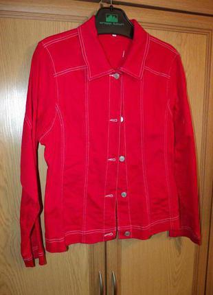 Черная пятница -50% трендовая рубашка из денима сочного красного цвета signature