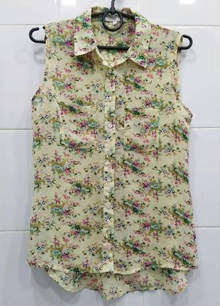Милейшая шифоновая блуза без рукавов