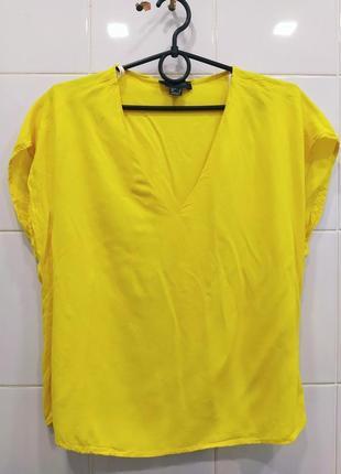 Натуральная футболка из вискозы лимонного цвета
