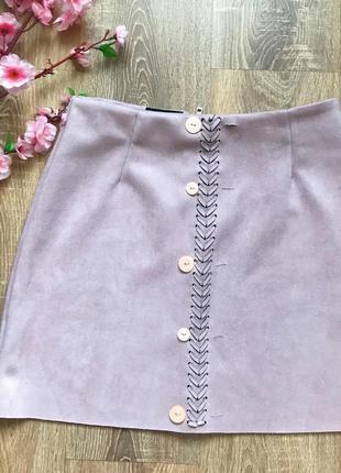 Стильная женская юбка замш