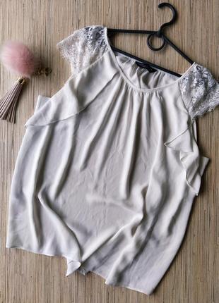 Милая шифоновая блуза с кружевными рукавчиками