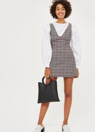Превосходный сарафан платье в клетку с молнией на спине от topshop petite 1+1=3 на всё 🎁