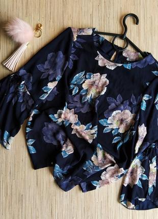 Шикарная блуза с рукавами колокольчиками