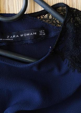 Шикарная блуза с кружевом на рукавах zara4 фото