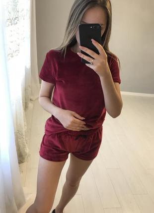 Пижима/ піжамка / бордова пижама