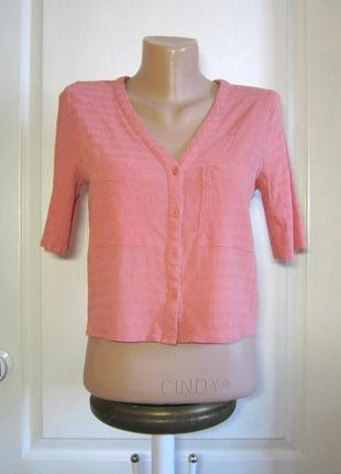 Летняя распродажа! укороченная темно-коралловая блуза / кроп топ