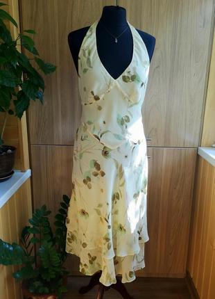 Легкий натуральный сарафан maria grachvogel в цветочный принт, 100% шелк