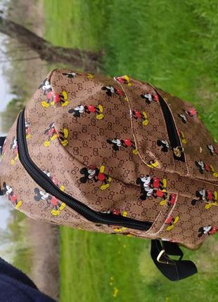 Сильный рюкзак в стиле известного бренда, микки маус