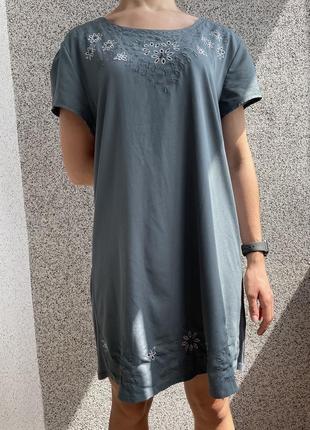 Платье женское, сукня жіноча голуба легка next 44 р.