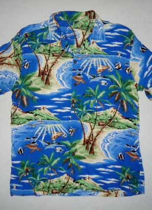 Рубашка  гавайская  mauro ferrini viscose гавайка (xl)