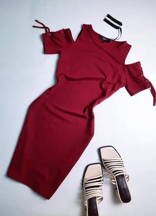 Новое бордовое платье
