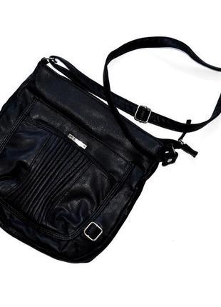 Metro черная мягкая сумка с длиной ручкой.