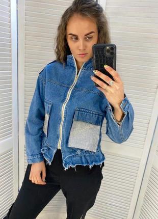 Джинсовая куртка ветровка