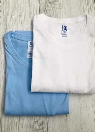 Комплект однотонных базовых футболок 100% хлопок размеры2 фото