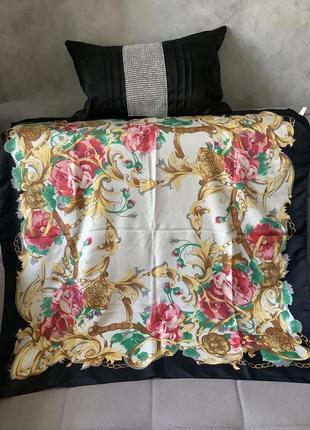 Италия большой винтажный платок с цветами 88/88