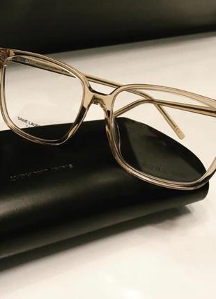 Новая оправа saint laurent очки made in italy hand made прозрачная шик нюд премиум