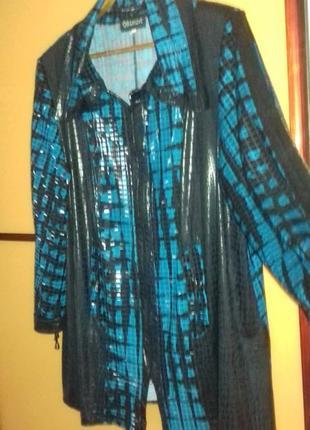Стильный кардиган-блуза эксклюзив чешуя. батал