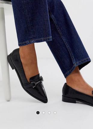 Туфли лоферы балетки asos