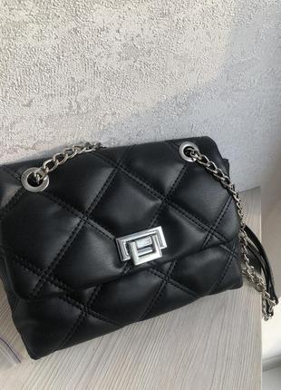 Новая женская стёганная сумка регулируемая ручка (в подарок украшение)