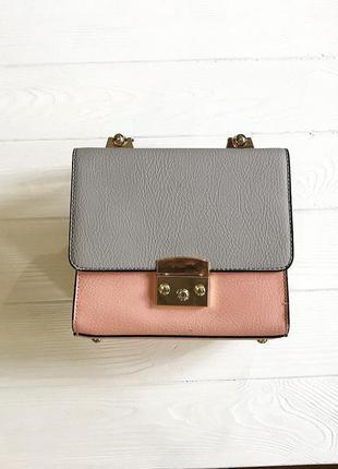 Маленькая сумка сумочка кроссбоди кросс боди с короткой ручкой длинным ремешком