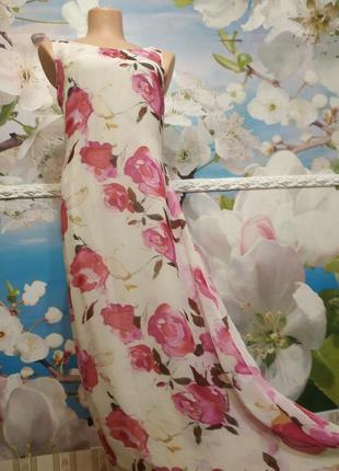 Sale!роскошное шелковое платье в пол на хлопковой подкладке 10р